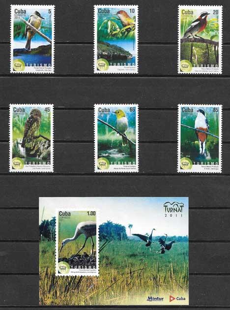 Filatelia fauna - aves endémicas Cuba