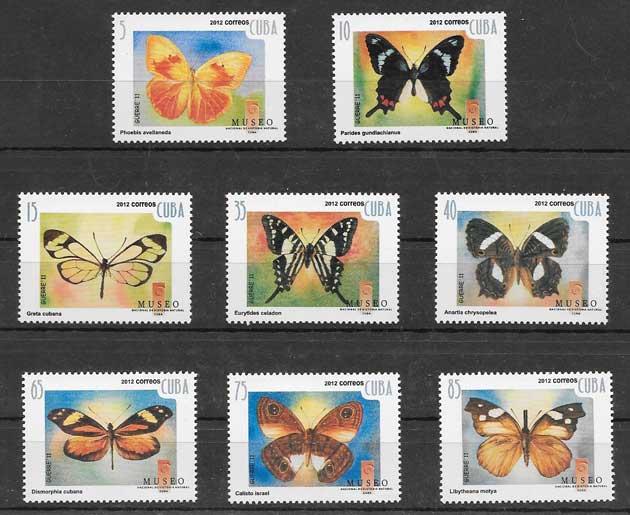 Sellos mariposas Cuba-2012-02