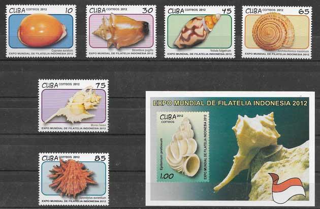 Filatelia fauna marina cubana 2012