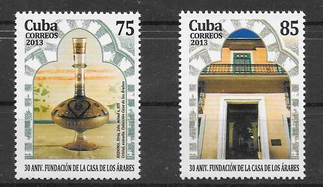 Sellos mansiones arábes Cuba 2013