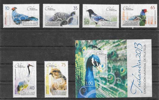 Filatelia diversidad fauna - aves