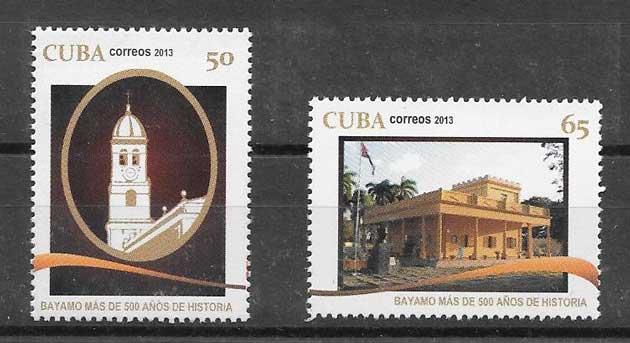 Sellos arquitectura cubana 2013