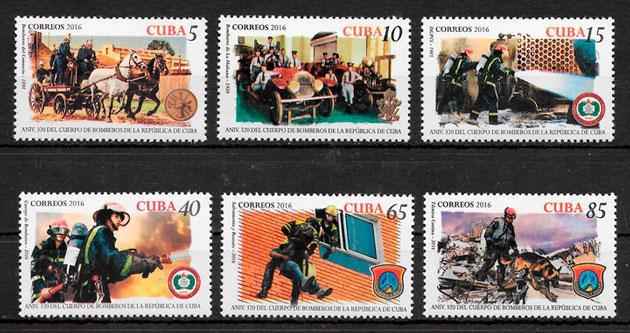 filatelia transporte Cuba 2016