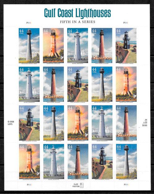 sellos faros 2007 USA 2009