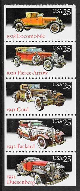 colección sellos transporte USA 1988
