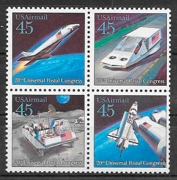 sellos transporte USA 1989