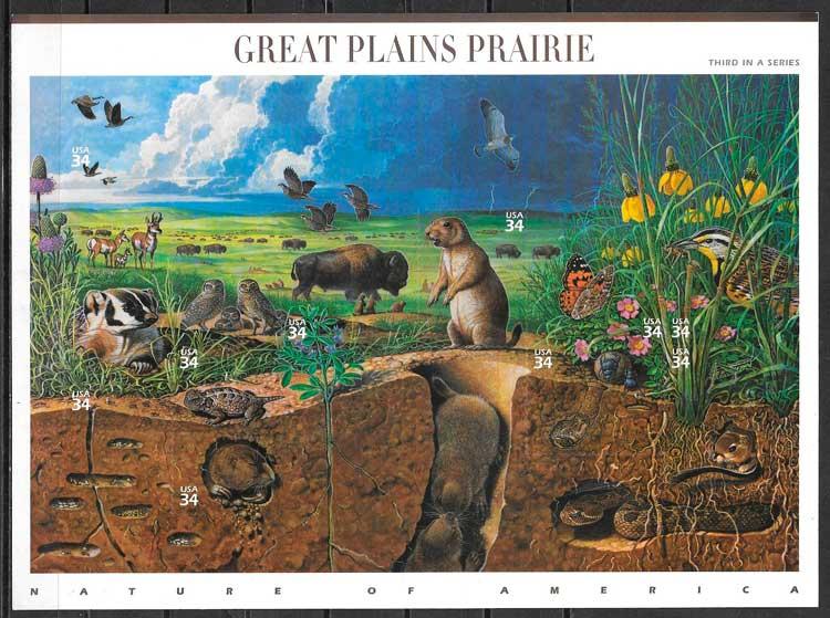 sellos parques naturales USA 2001