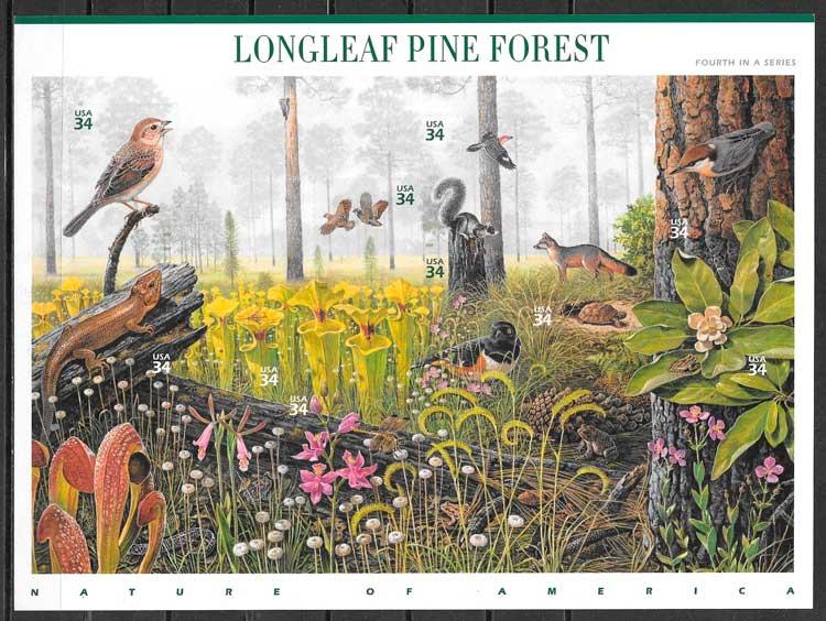 sellos parques naturales USA 2002