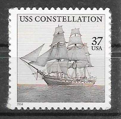 filatelia colección transporte USA 2004