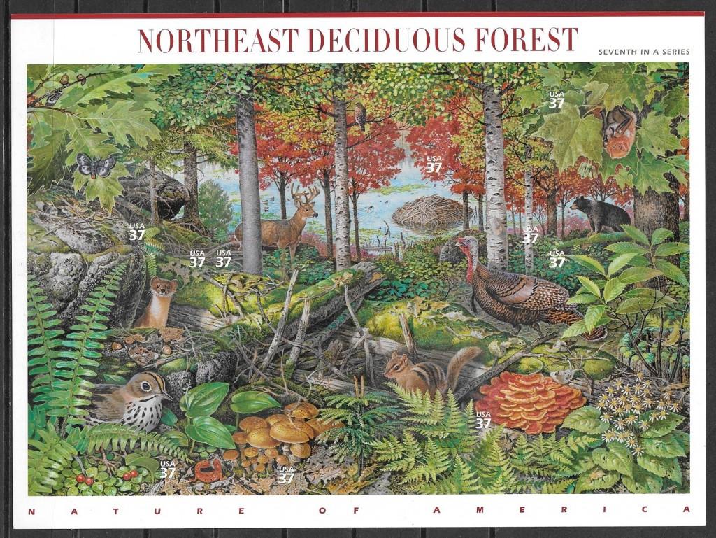 filatelia parques naturales EE:UU 2005