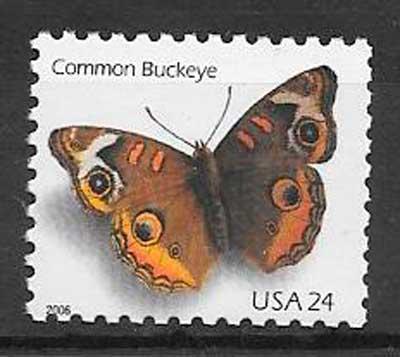 sellos mariposas USA 2006