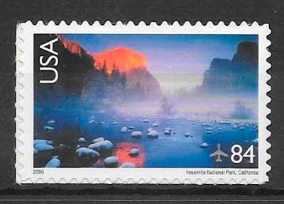colección sellos parques naturales USA 2006