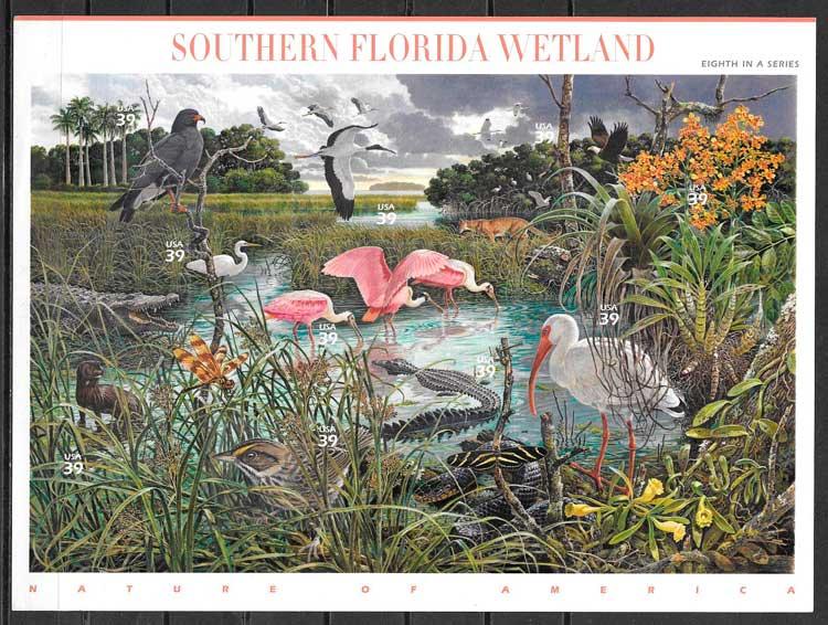 colección sellos parques naturales EE;UU 2006