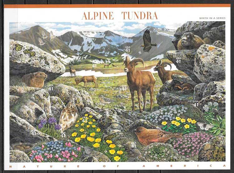 colección sellos parques naturales USA 2007