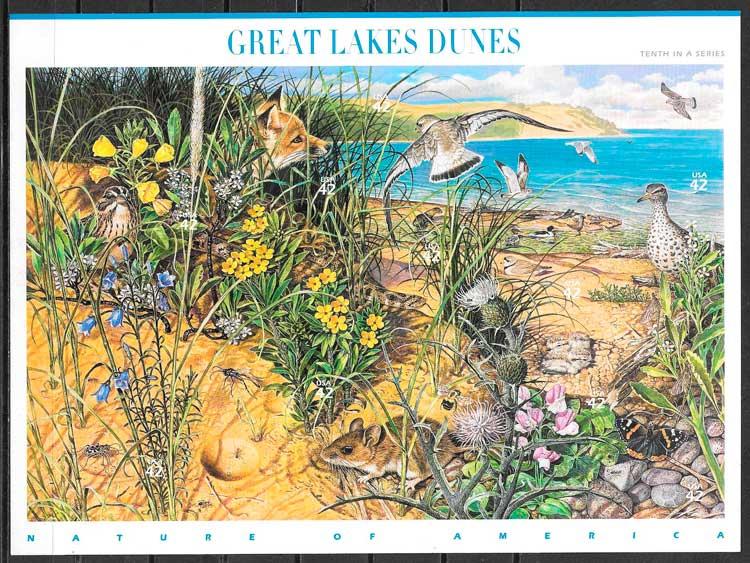 colecciónh sellos parques naturales EE:UU 2008