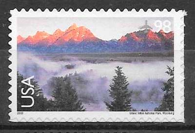 filatelia colección parques naturales USA 2009