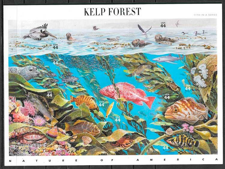 filatelia colección parques naturales EE:UU 2009