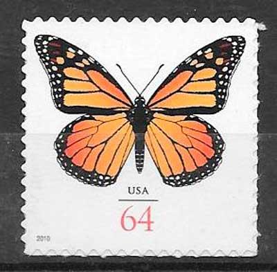 colección sellos mariposas USA 2010