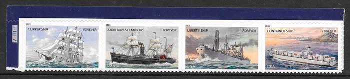filatelia colección transporte EE:UU 2011