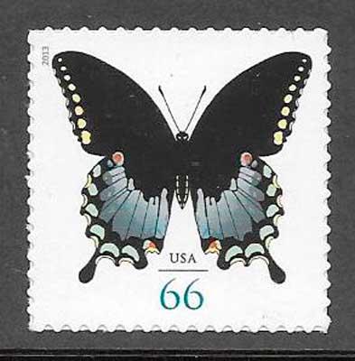 filatelia colección mariposas EE:UU 2013