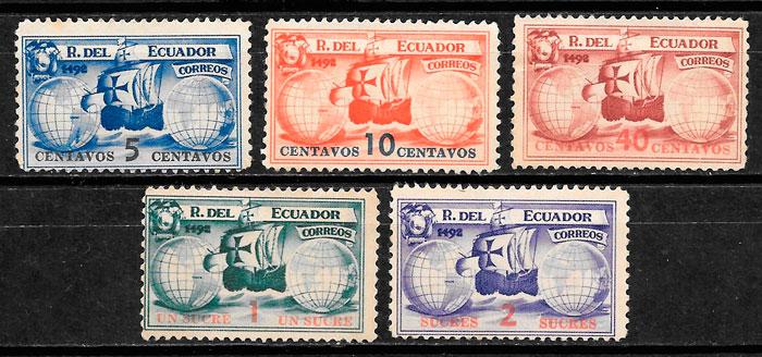 sellos transporte Ecuador 1935