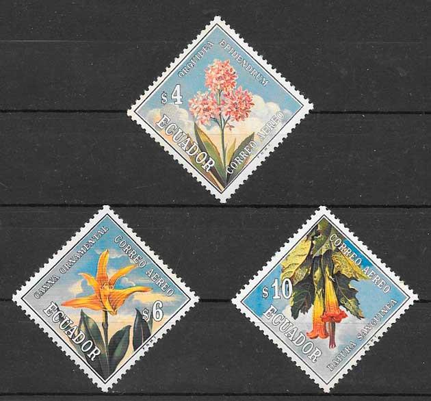 colección sellos flora Ecuador 1972