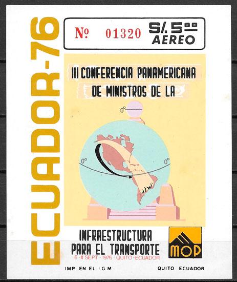 sellos transporte Ecuador 1976