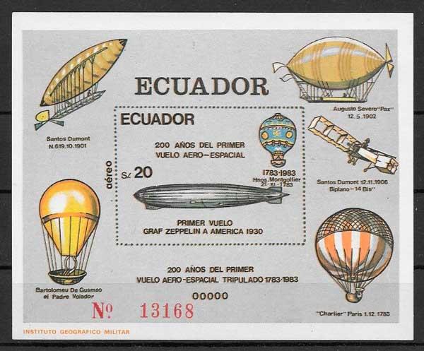 filatelia transporte Ecuador 1984