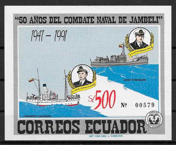 filatelia transporte Ecuador 1992