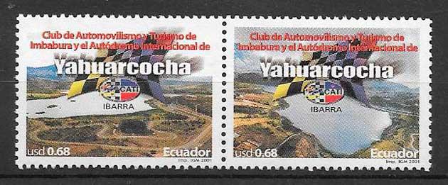 filatelia transporte Ecuador 2001
