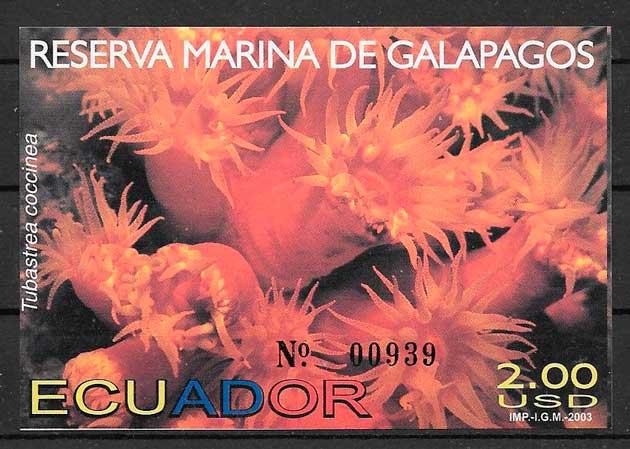 sellos parques naturales Ecuador 2003