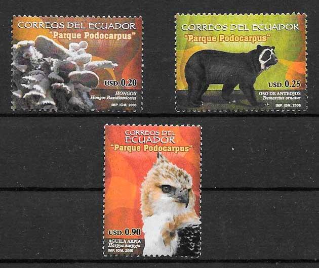 colección sellos parques naturales Ecuador 2006