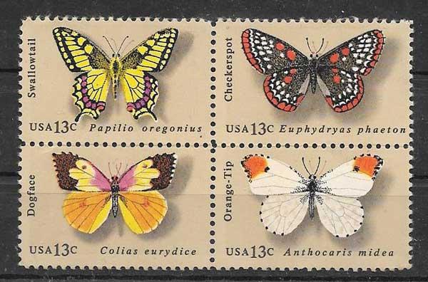 Sellos fauna - mariposas de Estados Unidos