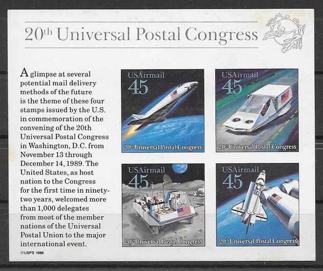 sellos transporte EE:UU 1989