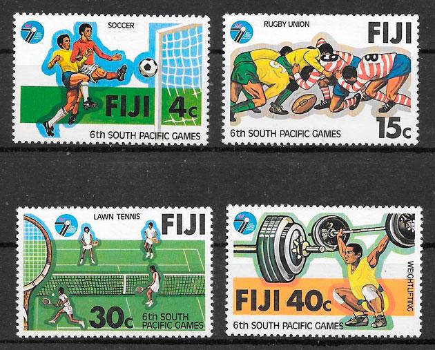 sellos deporte Fidji 1979