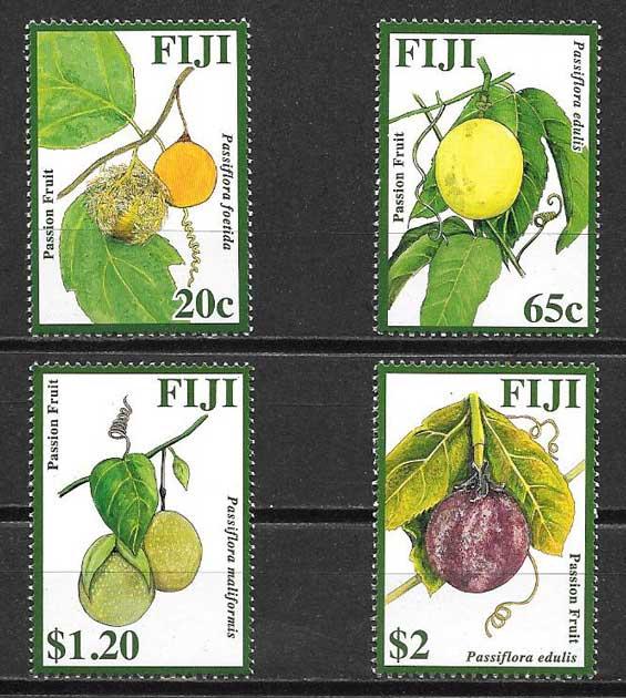 Estampillas Fiji frutas 2009