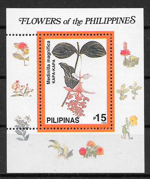filatelia colección flora Filipinas 1998