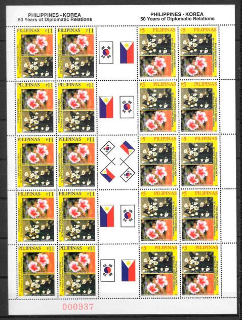 sellos flora Filipinas 1999