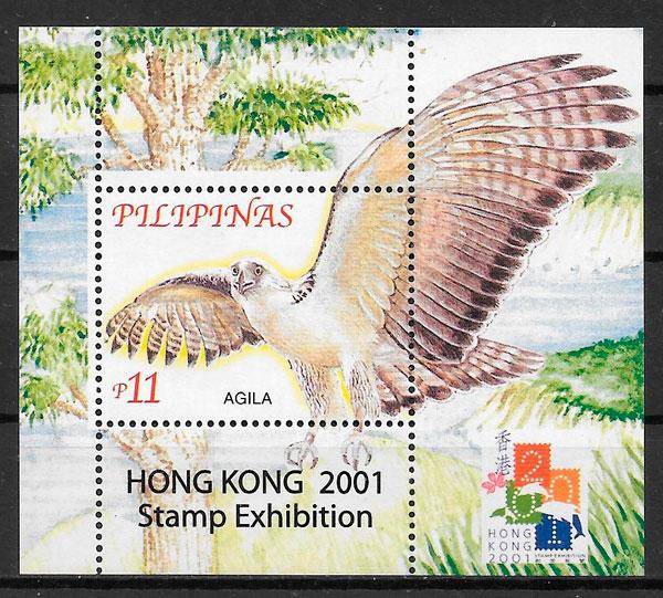 colección sellos fauna y flora Filipinas 2001