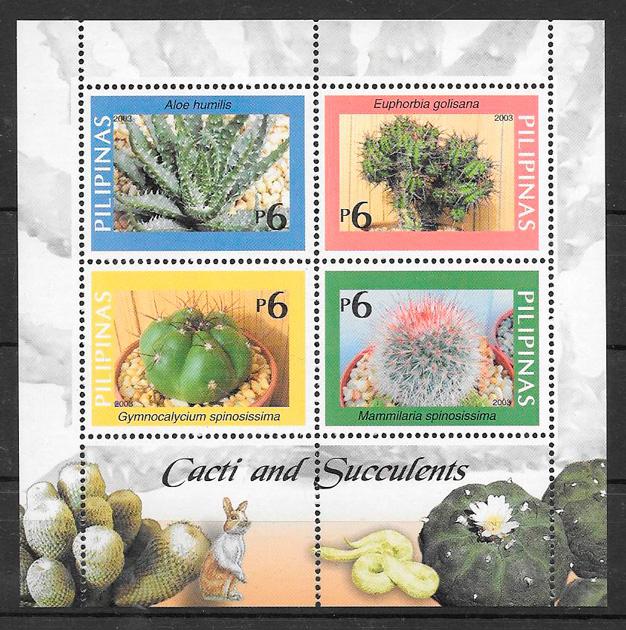 colección sellos flora Filipinas 2003
