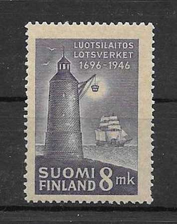 Sellos Faro 1946 de Finlandia