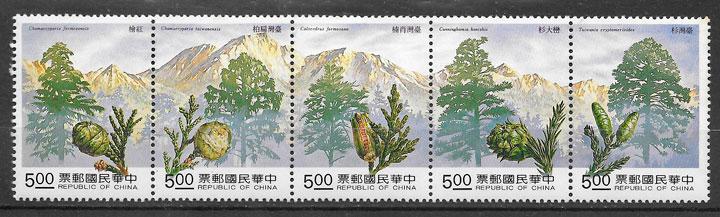 colección sellos flora Formosa 1992