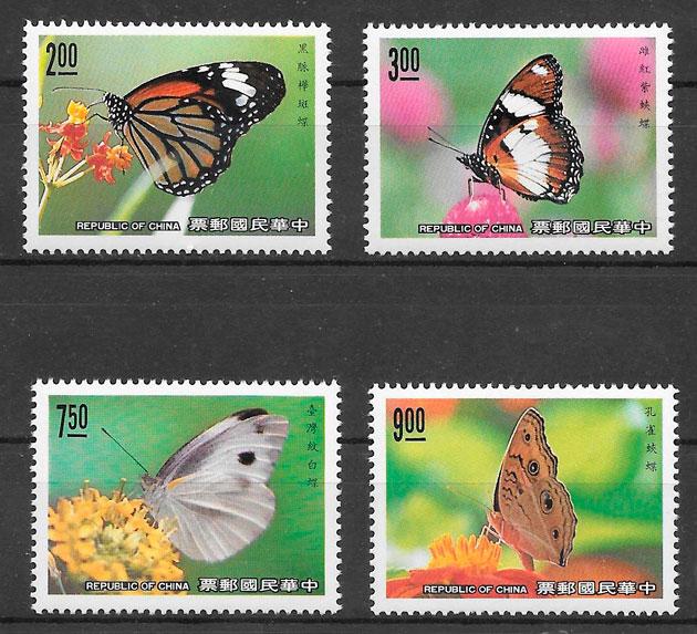 filatelia mariposas Formosa 2004