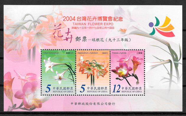 filatelia colección flora Formosa 2004