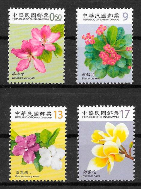 sellos flora Formosa 2010