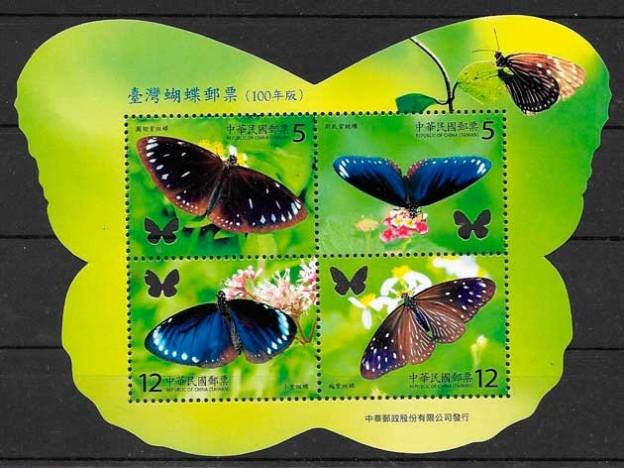 sellos mariposas Formosa 2011