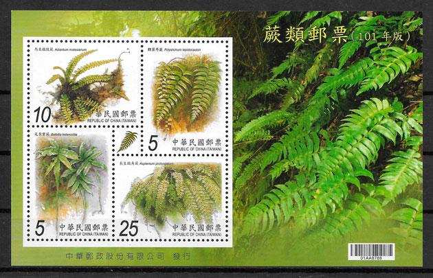 filatelia colección flora Formosa 2012