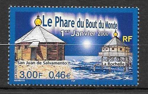Sellos faros e Francia 2000