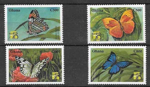 Sellos mariposas Ghana-1999-01