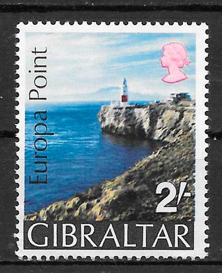 filatelia faros Gibraltar 1970